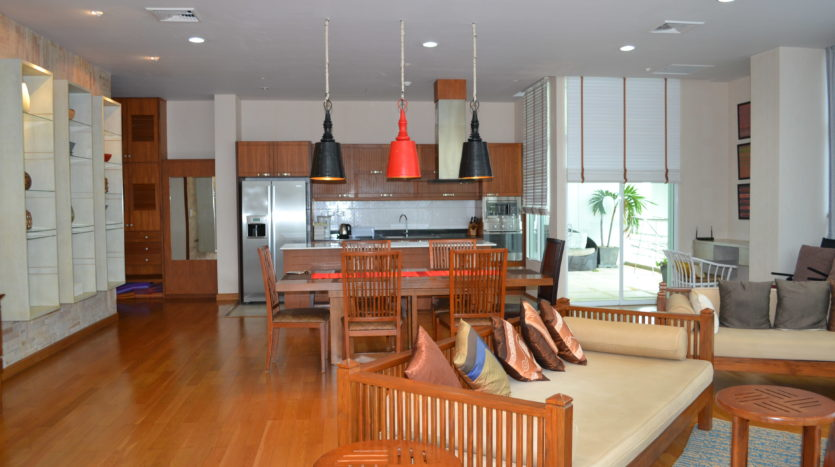 Penthouse Warm Living Room Karon Phuket Thailand