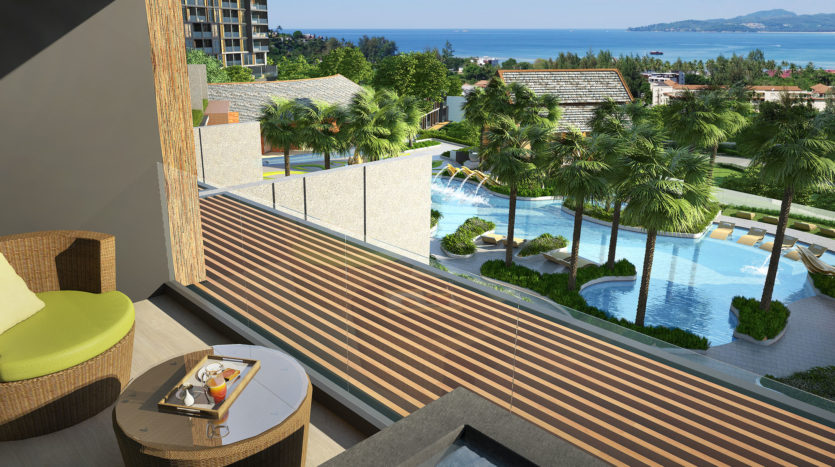 Balcony Pool And Sea View