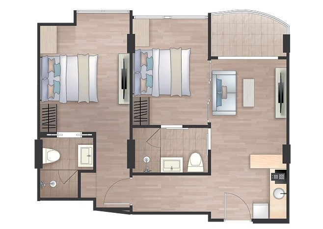 Floorplan Twobed
