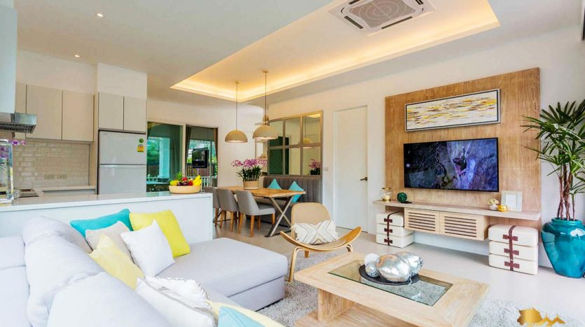 easy living phuket investment high return property thailand condo between beaches on island ready for sell kamala living room